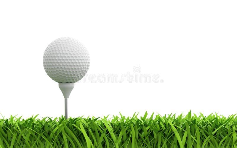Шар для игры в гольф иллюстрация штока