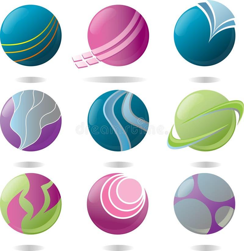 шар логоса элементов бесплатная иллюстрация