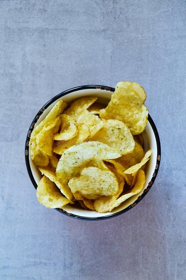 шар откалывает картошку стоковое фото