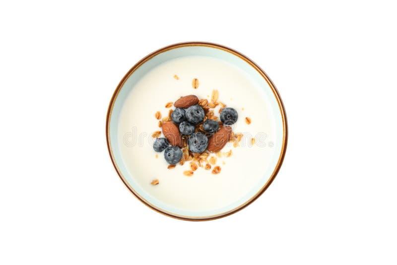 Шар с изолированным десертом parfaits стоковое фото rf