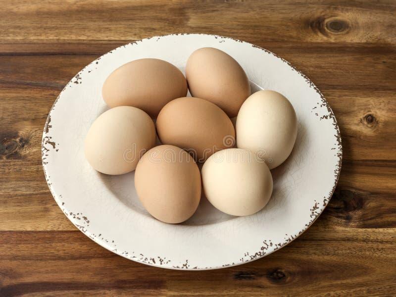 Шар яичек цыпленка на древесине стоковые изображения rf