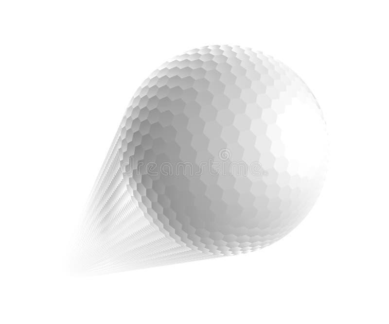 Шар для игры в гольф. иллюстрация вектора