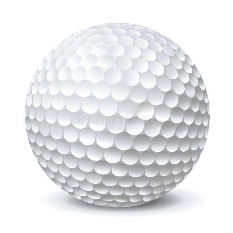 Шар для игры в гольф иллюстрация вектора