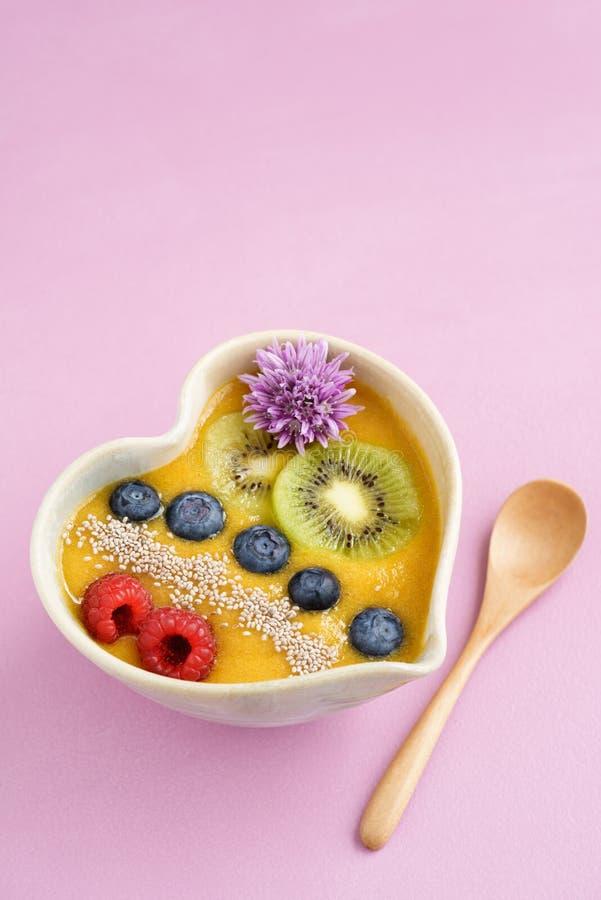 Шар smoothie персика стоковое изображение