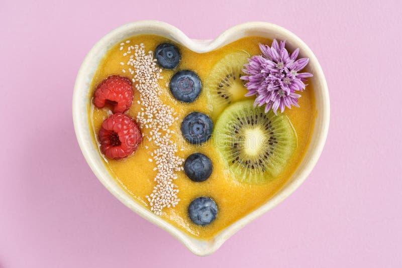 Шар smoothie персика стоковые фотографии rf