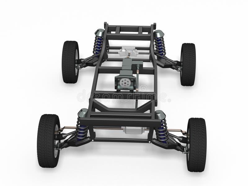 Шасси автомобиля вид спереди стоковое изображение rf