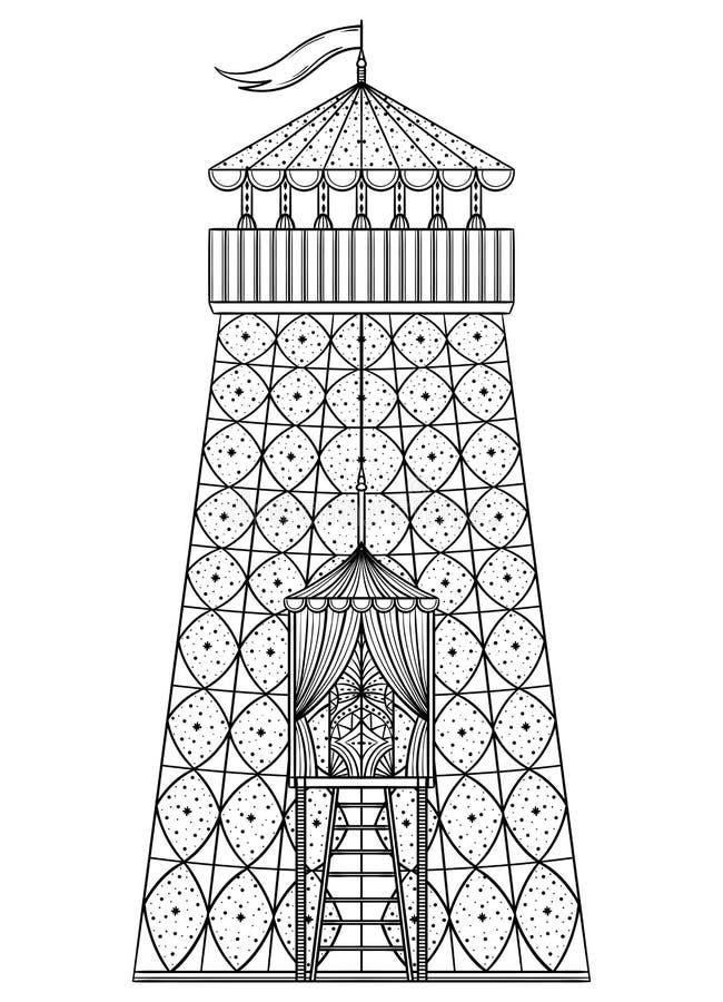 Шатер башни цирка иллюстрация штока