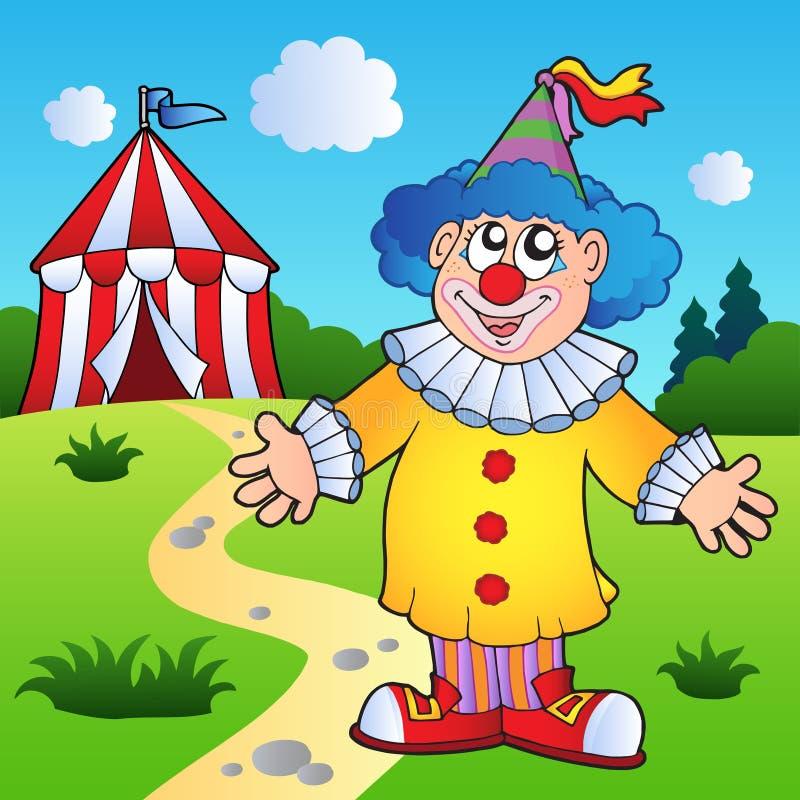 Download шатер клоуна цирка шаржа иллюстрация вектора. иллюстрации насчитывающей смотреть - 18392428