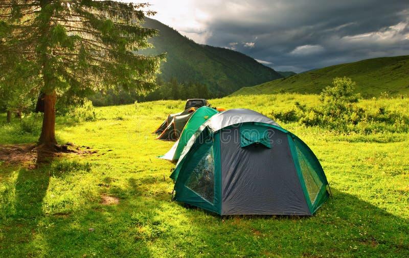 шатры туристские стоковое изображение