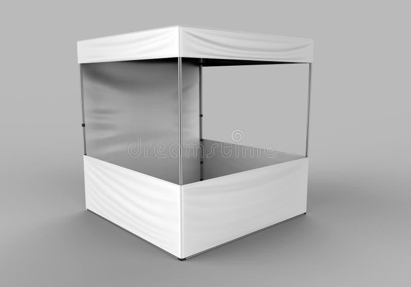 Шатёр черни шатра сени торговой выставки события выдвиженческой рекламы внешнее насмешка вверх, шаблон 3d представляют иллюстраци иллюстрация штока