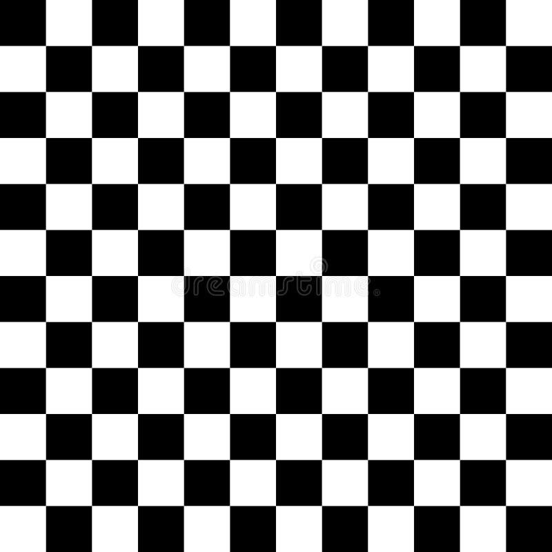 Шахматная доска, безшовная картина также вектор иллюстрации притяжки corel Черная белизна бесплатная иллюстрация