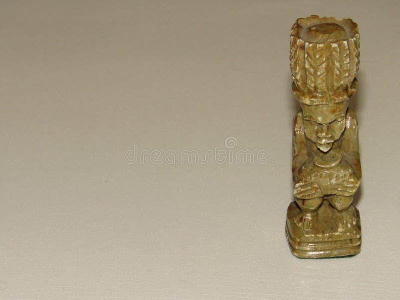 Шахматная фигура ферзя соапстона африканская стоковое изображение