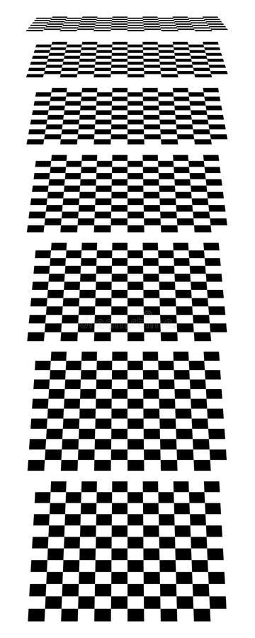Download Шахматные доски, доски, Checkered самолеты в различном Perspe Иллюстрация вектора - иллюстрации насчитывающей линия, умалять: 81814975