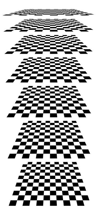 Download Шахматные доски, доски, Checkered самолеты в различном Perspe Иллюстрация вектора - иллюстрации насчитывающей angiosperms, checkerboard: 81814979
