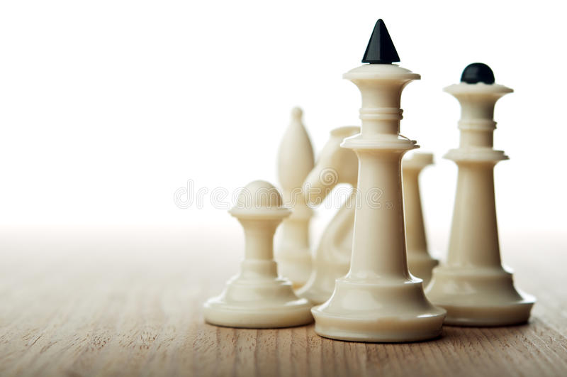 Шахматные фигуры стоковое изображение