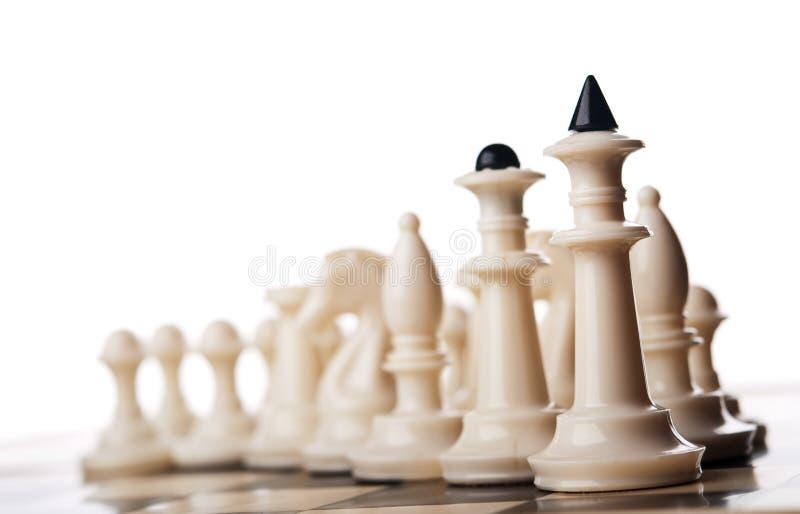 Шахматные фигуры стоковое изображение rf