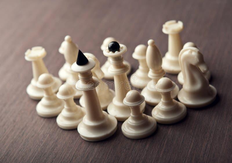 Шахматные фигуры стоковая фотография rf