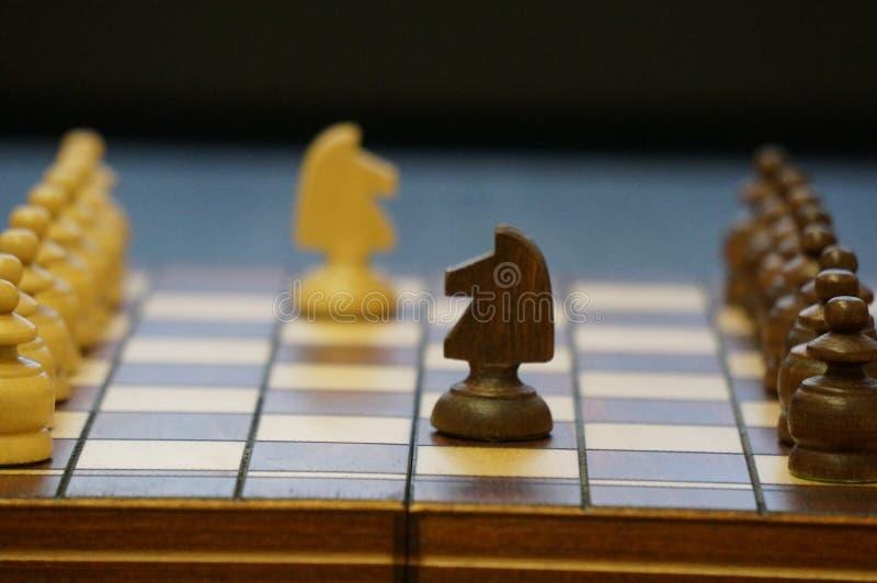 Шахматы игра для больших людей стоковая фотография