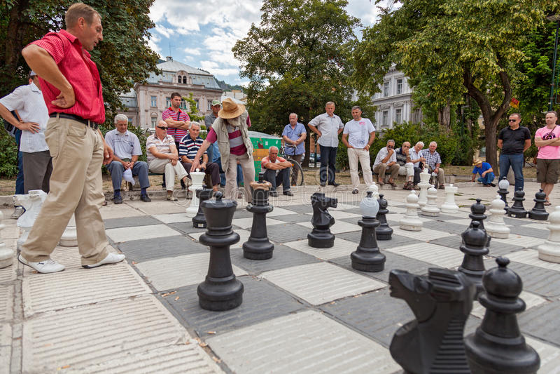 Шахмат улицы стоковые изображения rf