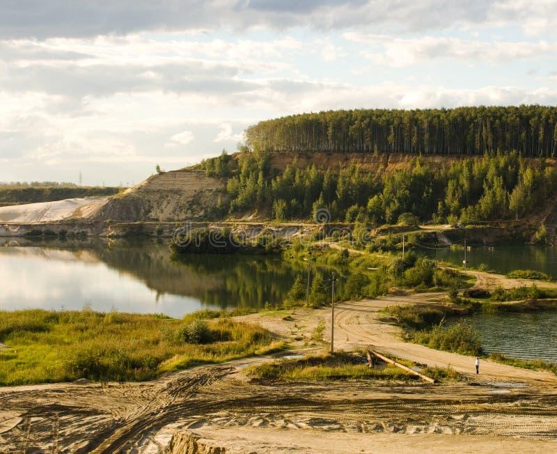 шахта бросания открытая стоковое фото