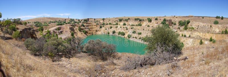 шахта burra медная стоковое изображение rf