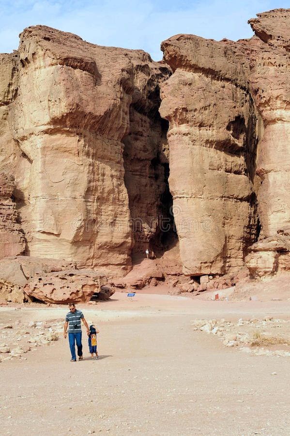 Шахты парка и короля Solomon's - Израиля Timna стоковая фотография rf