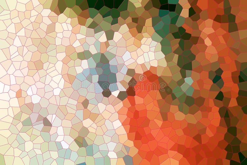Шаловливая бежевая оранжевая зеленая абстрактная предпосылка иллюстрация штока