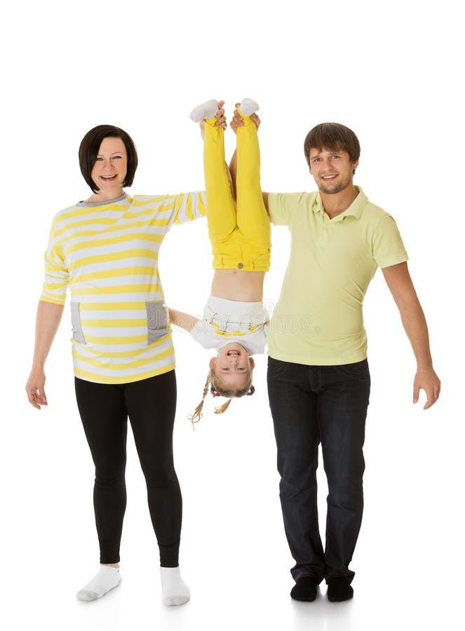 Шаловливая семья стоковое изображение