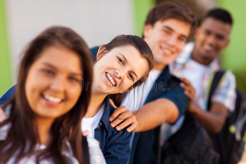 Шаловливые студенты школы стоковые изображения rf