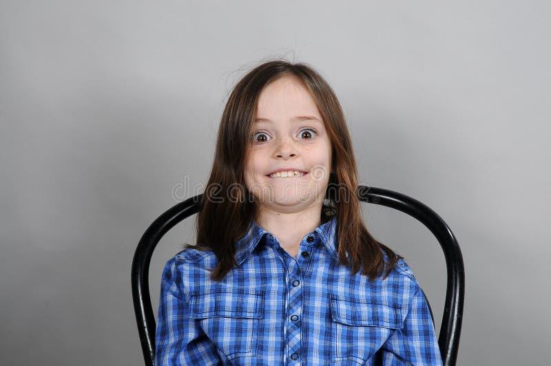 Шальная девушка стоковое фото rf
