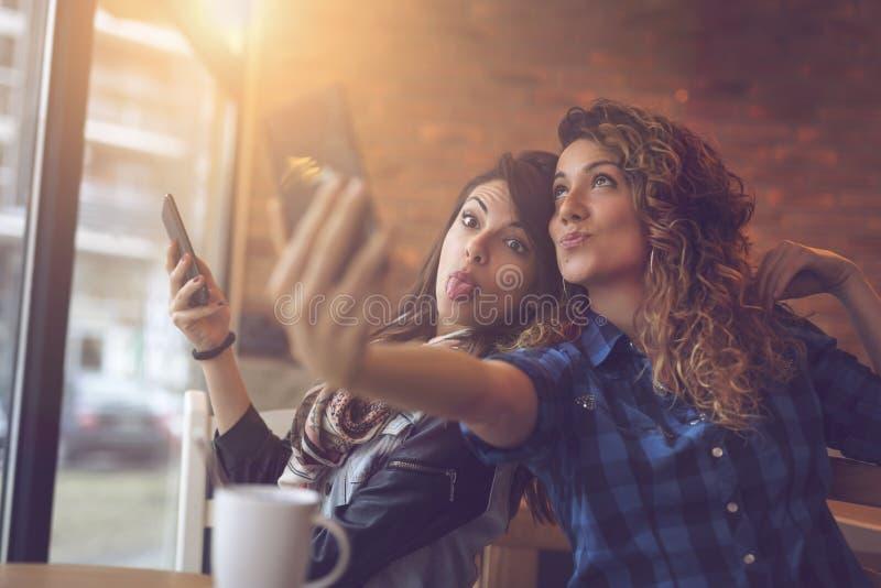 Шальное время selfie стоковое изображение