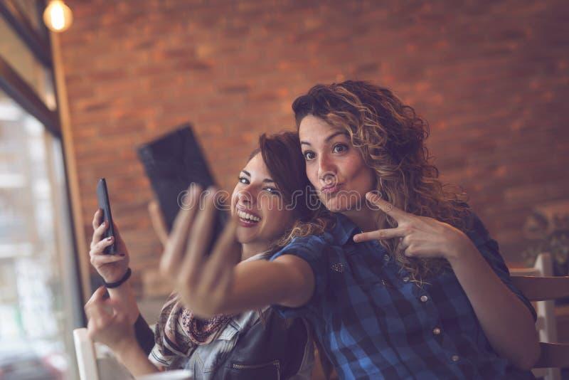 Шальное время selfie стоковая фотография rf