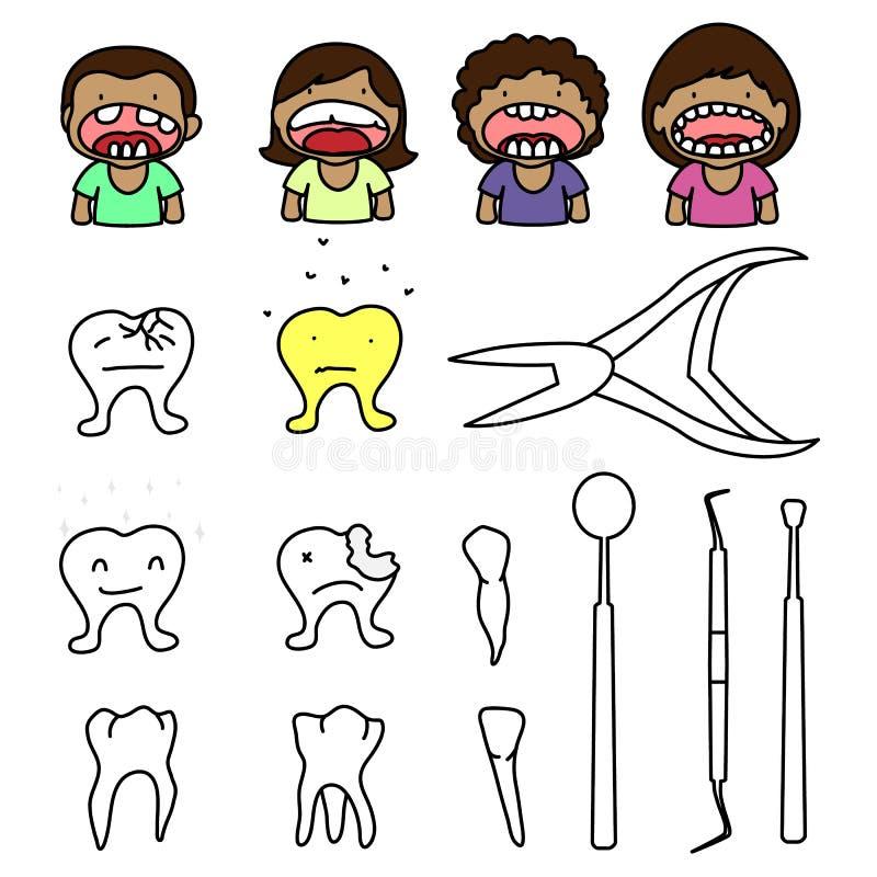 Шальной дантист бесплатная иллюстрация