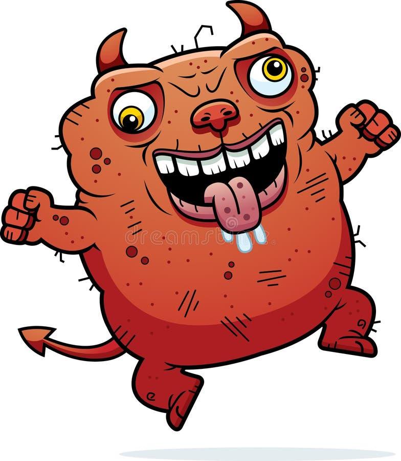 Шальной уродский дьявол бесплатная иллюстрация