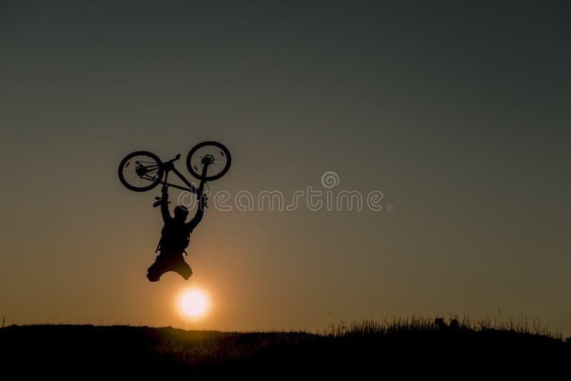 Шальной человек велосипедиста стоковые фото