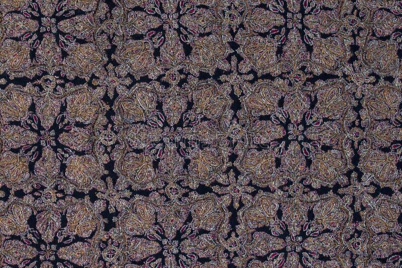 Шаль pashmina детали handmade с чувствительной вышивкой стоковое изображение rf