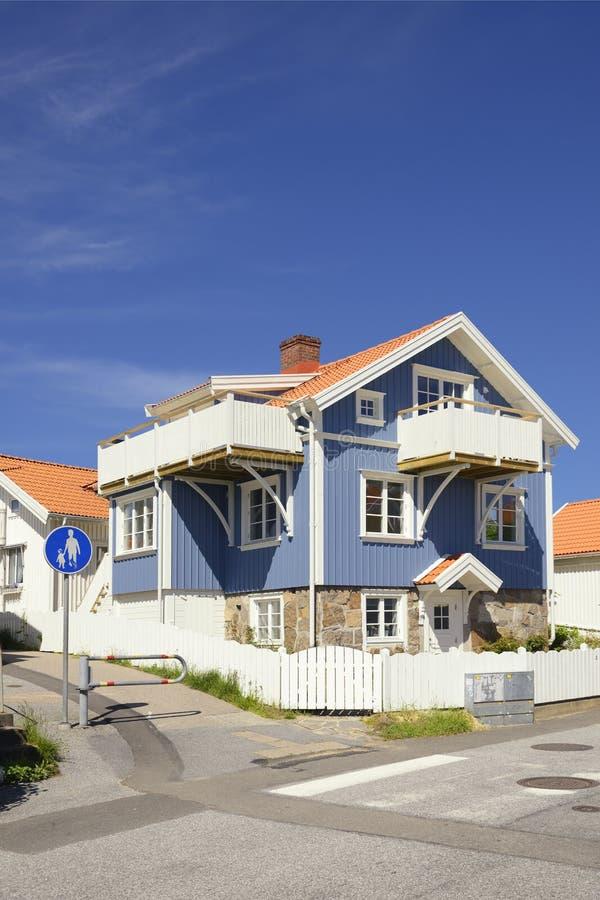 Шведский дом среднего класса стоковое фото