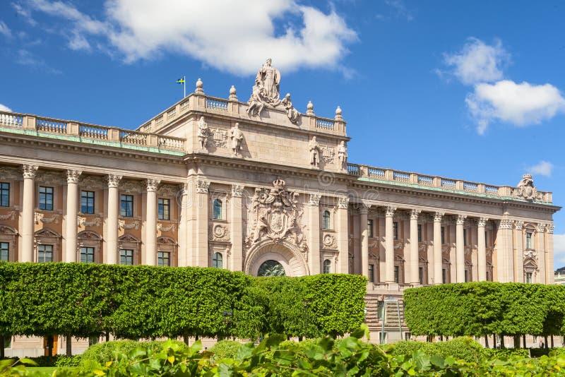 Шведский парламент в городе Стокгольма стоковые фото