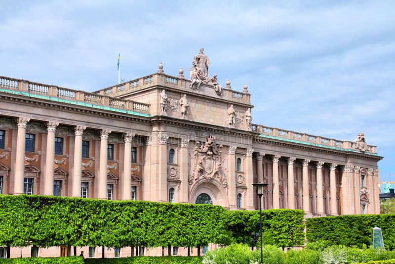 Шведский парламент стоковая фотография
