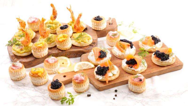 Шведский стол еды пальца стоковые фотографии rf