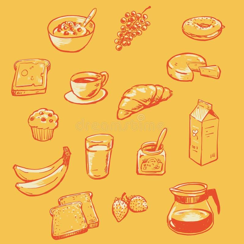 Шведский стол завтрака иллюстрация штока