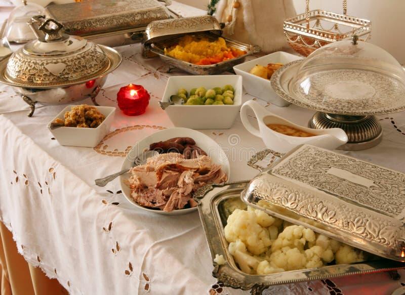 шведский стол праздничный стоковая фотография