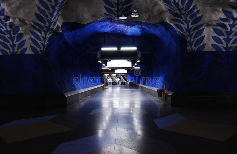 шведский язык метро стоковое изображение rf