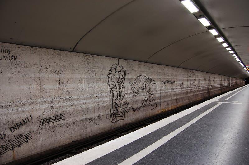 шведский язык метро стоковые изображения