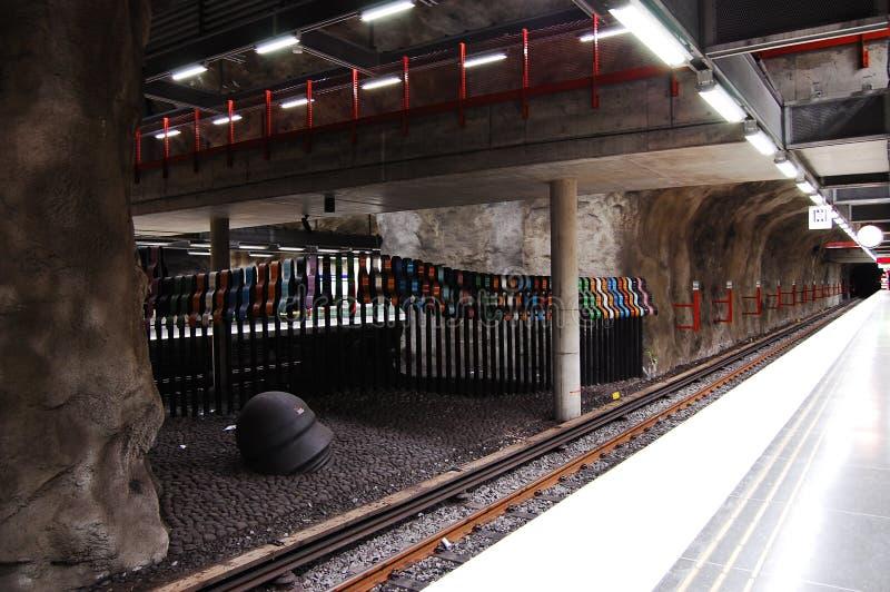 шведский язык метро стоковая фотография