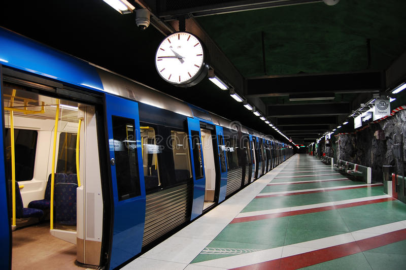 шведский язык метро стоковое фото rf
