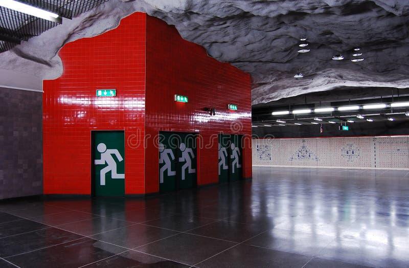 шведский язык метро стоковые изображения rf