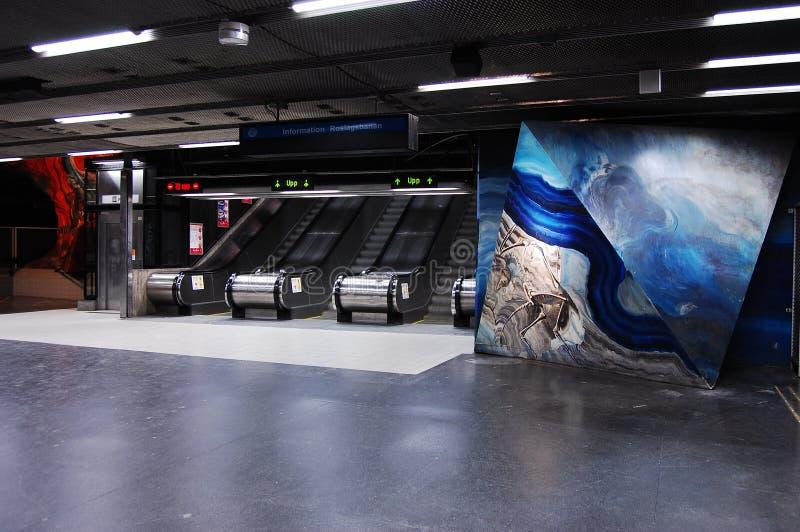 шведский язык подземки станции стоковая фотография rf
