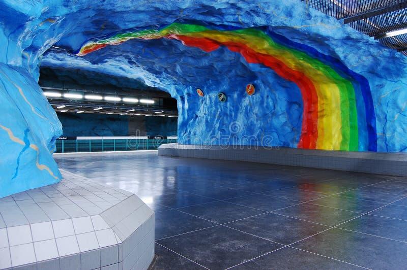 шведский язык подземки станции стоковые фотографии rf