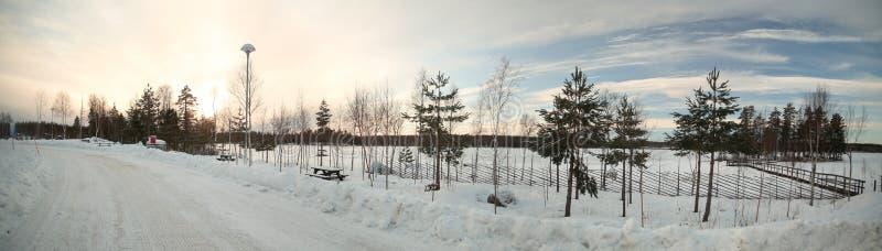 Шведское место отдыха на озере Alebosjoen стоковое изображение rf